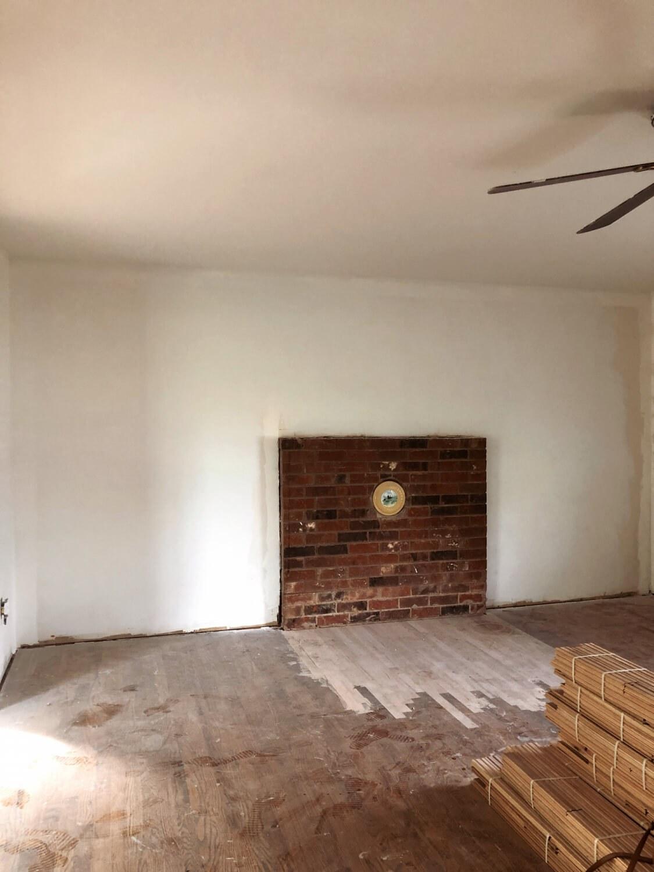 Renovation of a brick fireplace
