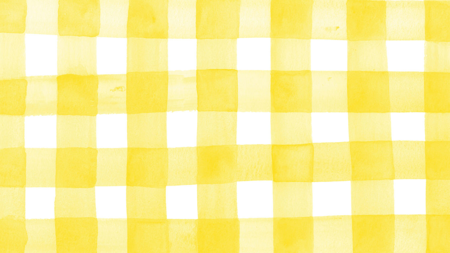 Gingham Yellow Large