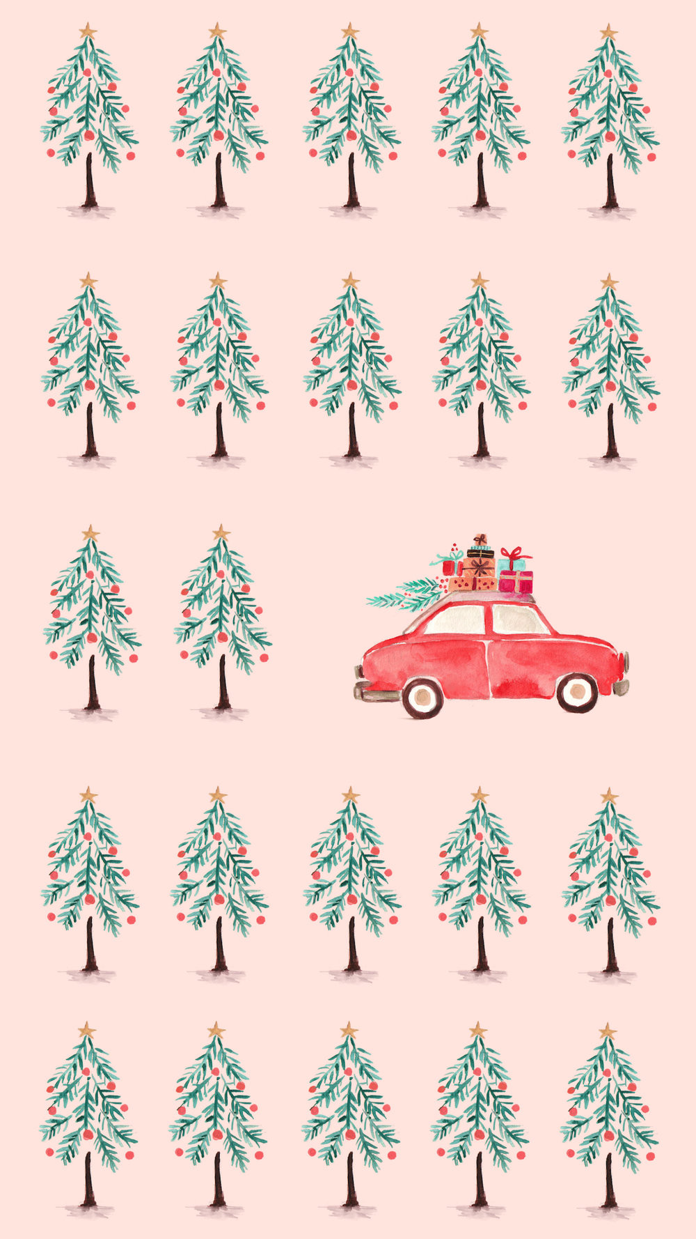 Holiday Christmas Winter Phone Wallpaper Background Christmas Trees