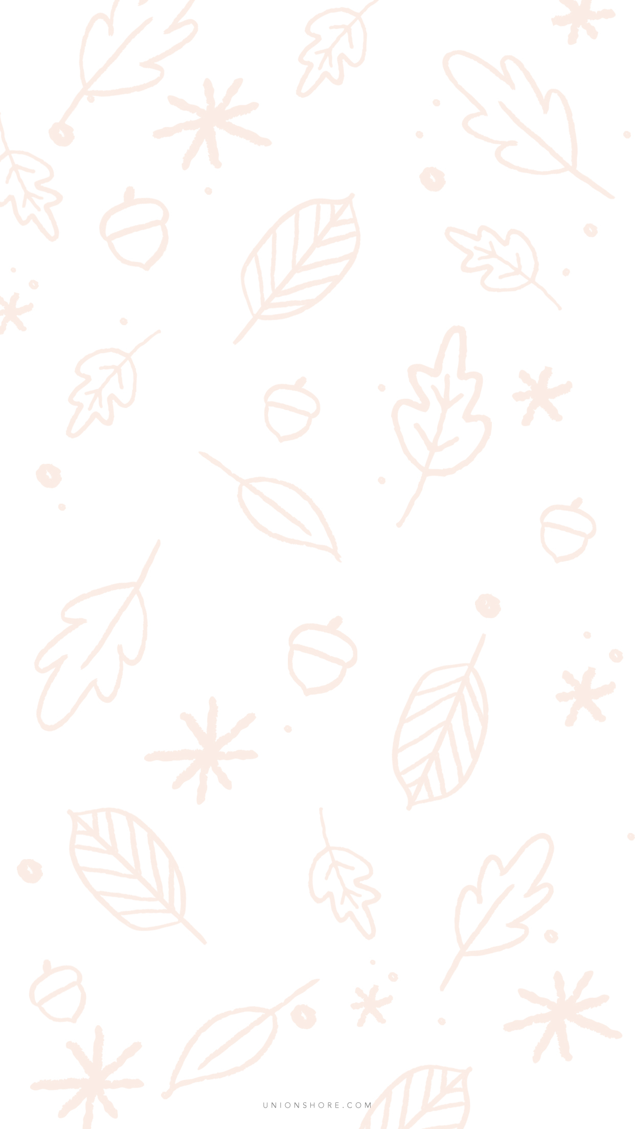 Leaves Phone pattern white