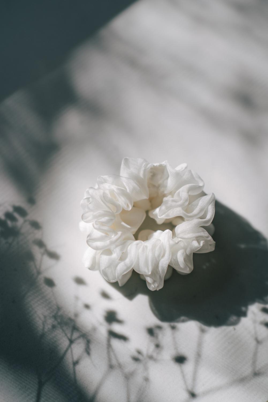 Wallflower White Scrunchie 2 scaled