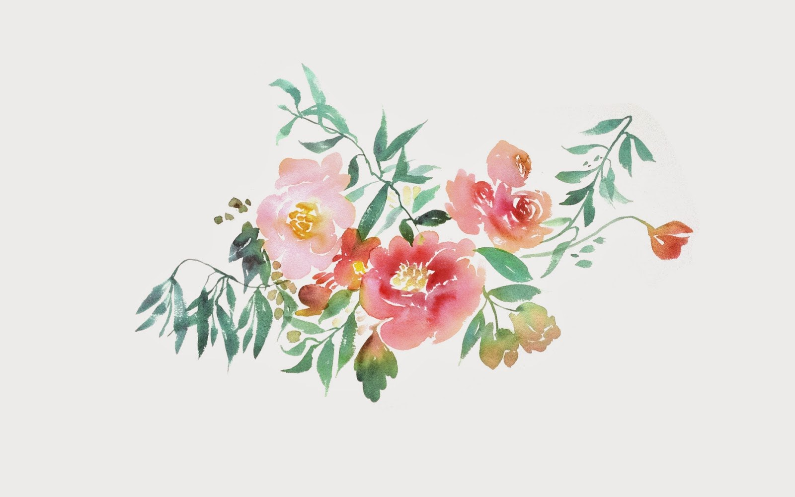 Watercolor Flora2 by Julie Song Ink1 2