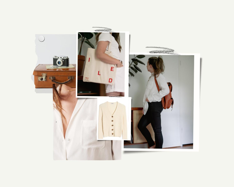 White Minimal Mood Board Photo Collage